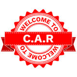 Vector Doodle of WELCOME TO COUNTRY CAR . EPS8 . Royalty Free Stock Photo