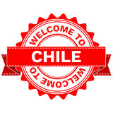 Vector Doodle of WELCOME TO COUNTRY CHILE . EPS8 . Royalty Free Stock Photos