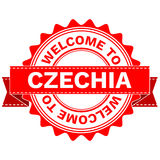 Vector Doodle of WELCOME TO COUNTRY CZECHIA . EPS8 . Royalty Free Stock Photography