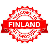 Vector Doodle of WELCOME TO COUNTRY FINLAND . EPS8 . Stock Photo