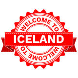 Vector Doodle of WELCOME TO COUNTRY ICELAND . EPS8 . Royalty Free Stock Image