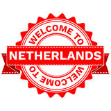 Vector Doodle of WELCOME TO COUNTRY NETHERLANDS . EPS8 . Royalty Free Stock Photography