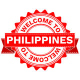 Vector Doodle of WELCOME TO COUNTRY PHILIPPINES . EPS8 . Royalty Free Stock Photos