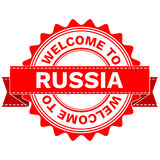 Vector Doodle of WELCOME TO COUNTRY RUSSIA . EPS8 . Royalty Free Stock Photography
