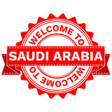 Vector Doodle of WELCOME TO COUNTRY SAUDI ARABIA . EPS8 . Royalty Free Stock Image