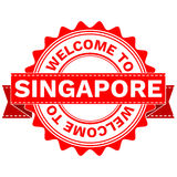 Vector Doodle of WELCOME TO COUNTRY SINGAPORE . EPS8 . Stock Photography
