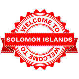Vector Doodle of WELCOME TO COUNTRY SOLOMON ISLANDS . EPS8 . Stock Image