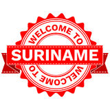 Vector Doodle of WELCOME TO COUNTRY SURINAME . EPS8 . Stock Image
