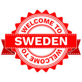 Vector Doodle of WELCOME TO COUNTRY SWEDEN . EPS8 . Stock Photos