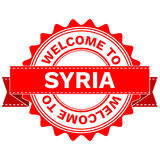 Vector Doodle of WELCOME TO COUNTRY SYRIA . EPS8 . Stock Image