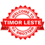 Vector Doodle of WELCOME TO COUNTRY TIMOR LESTE . EPS8 . Royalty Free Stock Photos