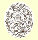 Vector doodles fairy-tale characters Stock Images