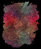 Vector doodles musical art background Stock Image