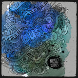 Vector doodles musical art paint background Royalty Free Stock Photos