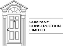 Vector door icon company logo. (white version Stock Photo