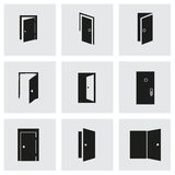 Vector door icon set Royalty Free Stock Photography