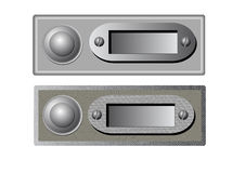 Vector doorbells Stock Image