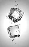 Vector Dos cubos de hielo EPS10 Foto de archivo