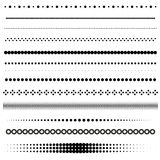 Vector dot dividers Royalty Free Stock Photography