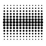 Vector Dot Pattern on White Background vector illustration
