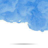 Vector dotted abstract halftone cloud background. Stock Photo