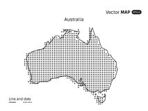 Vector Dotted Australia Map. Isolated on white background Stock Image
