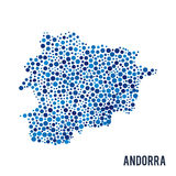 Vector dotted colorful map of Andorra isolated on a white background Stock Photo