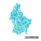 Vector dotted colorful map of Luxembourg isolated on a white background Stock Images