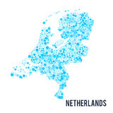 Vector dotted colorful map of Netherlands isolated on a white background Royalty Free Stock Image