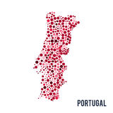 Vector dotted colorful map of Portugal isolated on a white background Stock Photography