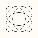 Vector dotted geometric shape. Stock Images