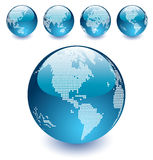 Vector Dotted Globes Of The World Stock Photo
