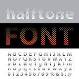 Halftone font Stock Photos
