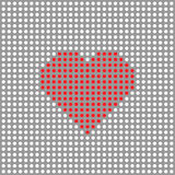 Vector dotted heart Stock Photos