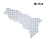 Vector dotted map of Abkhazia isolated on white background . Royalty Free Stock Image