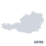 Vector dotted map of Austria isolated on white background . Stock Photography