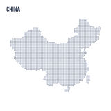 Vector dotted map of China isolated on white background . Stock Photo