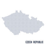 Vector dotted map of Czech Republic isolated on white background . Stock Image