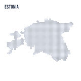 Vector dotted map of Estonia isolated on white background . Stock Images