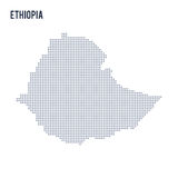 Vector dotted map of Ethiopia isolated on white background . Stock Image