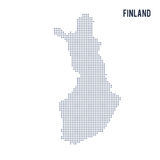 Vector dotted map of Finland isolated on white background . Royalty Free Stock Images