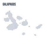 Vector dotted map of Galapagos isolated on white background . Travel vector illustration Royalty Free Stock Photos