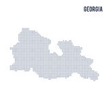 Vector dotted map of Georgia isolated on white background . Royalty Free Stock Image