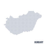 Vector dotted map of Hungary isolated on white background . Stock Photography