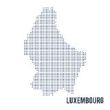 Vector dotted map of Luxembourg isolated on white background . Stock Image