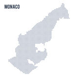 Vector dotted map of Monaco isolated on white background . Stock Images