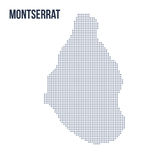 Vector dotted map of Montserrat isolated on white background . Travel vector illustration Stock Photography