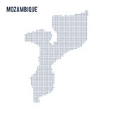 Vector dotted map of Mozambique isolated on white background . Royalty Free Stock Photo