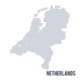 Vector dotted map of Netherlands isolated on white background . Stock Photography