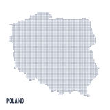 Vector dotted map of Poland isolated on white background . Stock Images